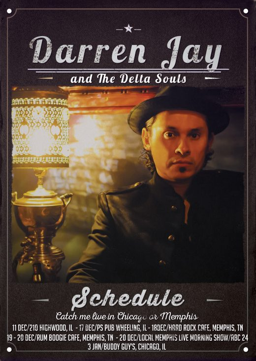 Darren Jay and The Delta Souls December Tour Schedule